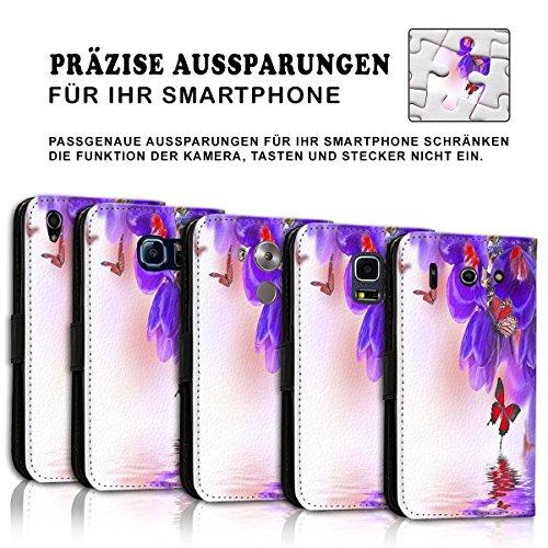 Wallet Book Style Flip Handy Tasche Case Schutz Hülle Schale Motiv Etui für Apple iPhone 5 / 5S - Variante UMV14 Design12 Design 10