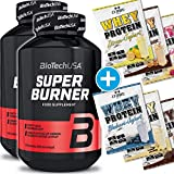 BioTech USA Super Burner 2er Pack, (2 x 120 Kapseln) + 6x C.P. Sports 25g Whey Testbeutel