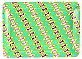 JD Diffusione BR102DMN terminali lustro Rettangolare Vassoio, melamina, 31 x 23 cm, Turchese