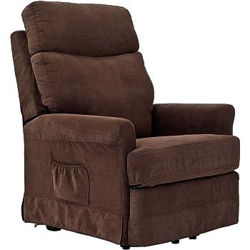 sessel f r senioren frankfurt 2 motoren aufstehhilfe abziehbarer brauner stoffbezug amazon. Black Bedroom Furniture Sets. Home Design Ideas