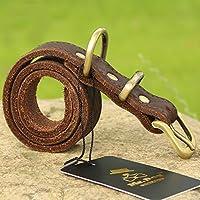 TANGUT collier de chien en cuir fabriqué à la main pour les hommes et les grands chiens cuir à main Cuir doux et confortable pour animaux de compagnie