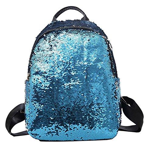 Cloom zaino, borsa a tracolla crossbody pochette a busta ragazza, paillettes zaino a tracolla moda paillettes cartella zaino satchel student viaggio borsa a tracolla(blu,1pc)