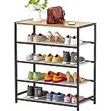 Plasaig Étagère à Chaussures, étagères en Maille réglables Horizontales ou inclinées, Rangement Chaussures de Style Industrie