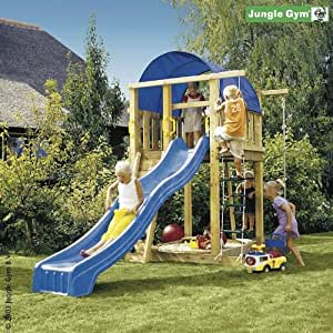 spielturm jungle gym villa 220x170x270 cm spielhaus ohne rutsche spielzeug. Black Bedroom Furniture Sets. Home Design Ideas