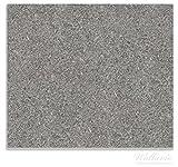 Wallario Herdabdeckplatte / Spitzschutz aus Glas, 1-teilig, 60x52cm, für Ceran- und Induktionsherde, Muster grauer Marmor Optik -Granit - marmoriert