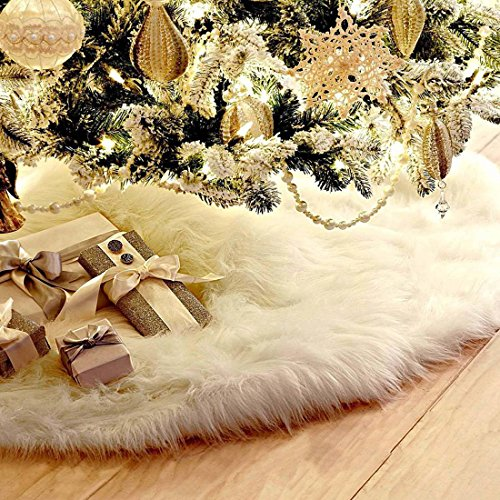 Freahap jupe de sapin d coration arbre no l peluche pied sapin 78cm - Decoration pied de sapin ...
