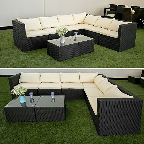 Life Carver Garden Corner Sofa Corner Rattan Sofa Set Rattan Corner Sofa No  Assembly 6 Seater Corner Rattan Sofa 8 PCS Outdoor Patio Garden Furniture  Sofa ...