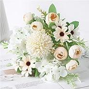 Beautiful Artificial Silk Fake Flowers Wedding Valentines Bouquet Bridal Decor - Champagne