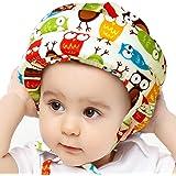 IULONEE Casco de bebé Protector de cabeza infantil Sombrero de protección para niños Casco de seguridad ajustable de algodón