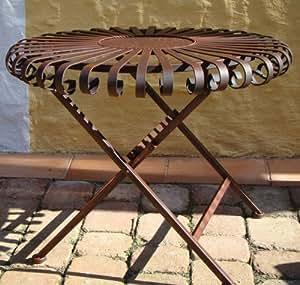 Gartendekoration metalltisch deko tisch aus for Deko amazon