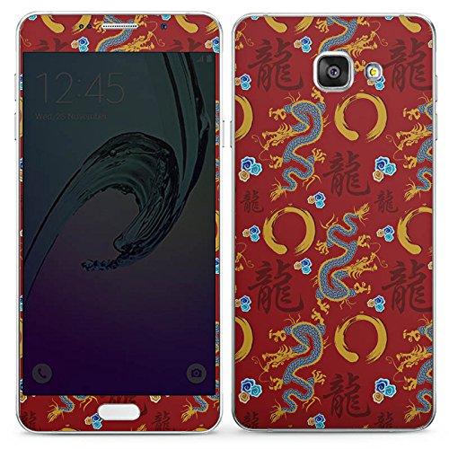 DeinDesign Samsung Galaxy A7 2016 Folie Skin Sticker aus Vinyl-Folie Aufkleber China Drachen Dragons