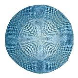 Sebra Spielteppich aus 100% Baumwolle Gradient Blue, runder Teppich mit Durchmesser von 120cm, in blau, handgefertigt