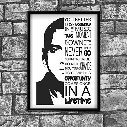 Motivational Inspirierende positiven Gedanken Zitat Eminem Poster Print, 267von inspiriert wallsâ ®