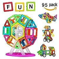 Crenova Magnetic Building Blocks 50 Pieces Educational Toddler Toys
