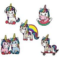 Ototon - Toppa ricamata termoadesiva a forma di unicorno colorato, decorazione per vestiti da bambini, borse o fai da te…