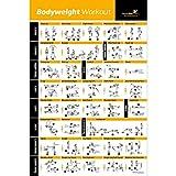 Newme Fitness Poster mit Eigengewichtübungen– Total Body Workout – Personal-Trainer-Fitnessprogramm – Home-Fitness-Poster – Straffung von Core, Bauchmuskeln, Beinen, Gesäßmuskeln und Oberkörper – optimiert das Workout (500 x 700 mm) (evtl. nicht in deutscher Sprache)