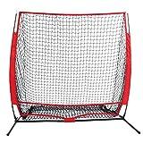 Minilism Baseball 5 x 5 Fuß Softball Übung von Hitting/Pitching/Batting Fangnetz für Jugendliche/Kinder mit Tragetasche