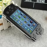 Oyrl PSP Game console with 10000 Games, Music, Alarm, Calculator Camera, SD Card Slot And 1 Set cartoon Earphone/minion earphone,Black