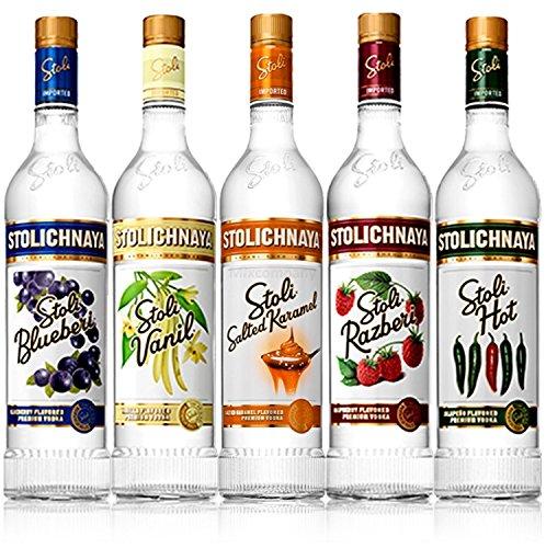 Stolichnaya-Stoli-Flavored-Premium-Vodka-5er-Set-Blueberi-Vanil-Salted-Karamel-Razberi-Hot-je-70cl-375-Vol-Enthlt-Sulfite