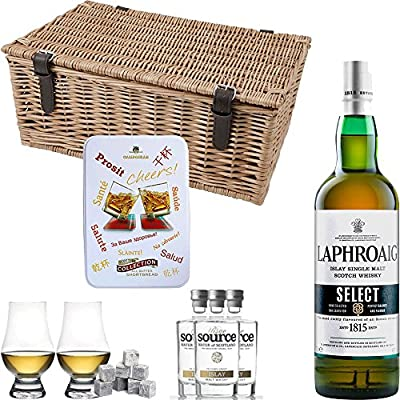 Laphroaig Select Single Malt Scotch Whisky Hamper Gift Set With Handcrafted Gifts2Drink Tag