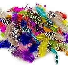 JPSOR 120pcs plumas de manchas coloridas de 8-15cm, 10 colores, utilizada para