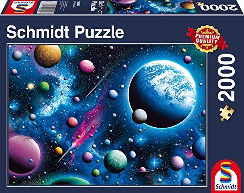 Schmidt Spiele Puzzle 58290-Puzzle 2000Piezas, DEUBA Mundo All