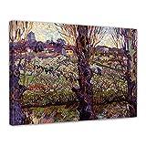 Bilderdepot24 Art Print - Vieux maîtres - Vincent Van Gogh - Vue d'Arles - 40x30 cm - Images sur Toile - Toile déco imprimée - Tableau Toile - Photo sur Toile