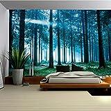 QSZS Wälder Tapisserie Natur Landschaft 3D Drucken Wandbehang Wandteppiche Strandtuch, 2, 130 * 150