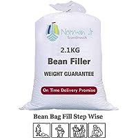 NORMAN JR, 2.1 Kg Bean Bag Refill/Filler - White
