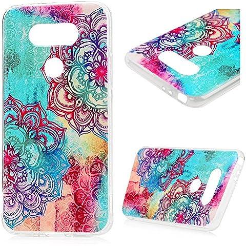LG G5 Funda, YOKIRIN TPU Cover Case Cáscara Ultra Slim Moviles Libres Pintado Protective Protectora -Tótem del color de la flor