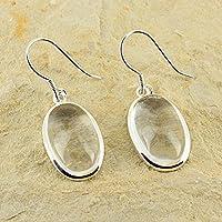 D? Ohrringe Oval längliche Naturstein und Silber 925–Cristal de Quartz preisvergleich bei billige-tabletten.eu