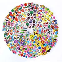 1200 Puffy Stickers for Kids, 36 Different Sheets 3D Puffy Animal Stickers, Including Animals,Fish,Dinosaur,Smile Face,Flower