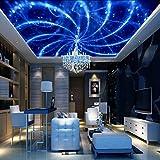 Wapel 3D Tapete für Deckenleuchte Wohnzimmer DIY Photo Modern Hintergrund Wandbild Fototapete Silk Papier