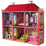 Puppenhaus Villa 6 Räumen Möbel Räume 35 cm