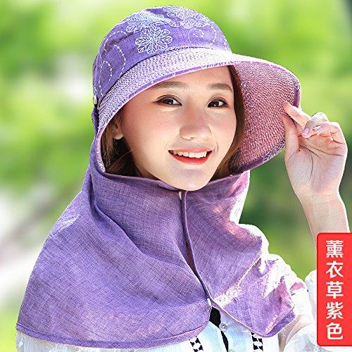 LLZTYM Women/Summer/Folding/Suncap/Sun Cap/Trip/Neck/Sunscreen/Sunscreen/Beach/Beach Cap/Headwear/Gift/Hat E