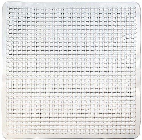 ID Mat Tapis Fond de Douche, 100% PVC, Blanc, 80 x 150 cm