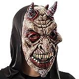 Carnival Toys 743 - Maske Teufel mit Kapuze Kunststoff
