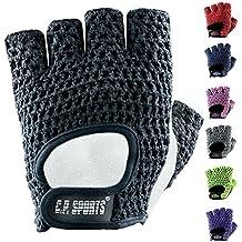 C.P. Sports–Guantes de fitness clásico, color morado, tamaño mediano