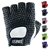 C.P. Sports Trainings Fitness Handschuh Klassik Trainingshandschuhe, Schwarz/Weiß, L