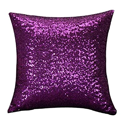 Malloom® Solid Color Glitter Sequins Throw Pillow Case Cafe Home Decor Cushion Covers produced by Malloom® - quick delivery from UK.