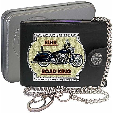 HARLEY DAVIDSON FLHR Klassek Uomo Portafoglio con catena motocicletta accessorio Moto
