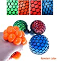 VANKER 1Pc Stress Relief Squeezing Soft Rubber Vent Grape Ball Hand Wrist Toy Random Color ... from VANKER