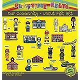 Playtime Felts Playtime Felts Our Community Workers Felt Board Story Set - Uncut Felt Figures