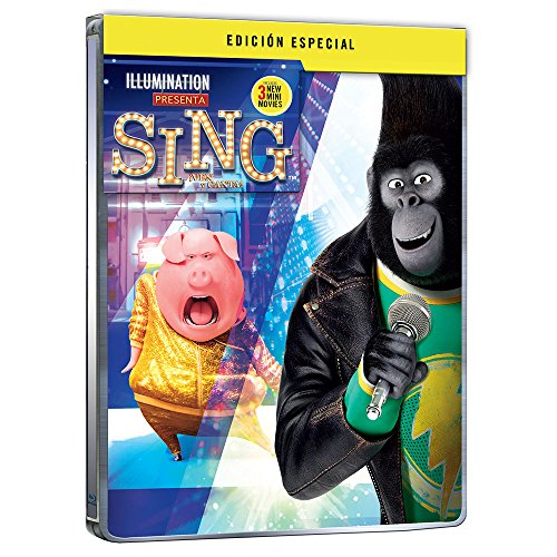 SING (¡Ven y Canta!) STEELBOOK Special Edition (BLU-RAY + DVD) English, Spanish & Portuguese Audio & Subtitles - IMPORT