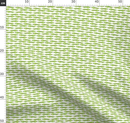 Alligator, Krokodil, Florida, Alligatoren, Reptilien Stoffe - Individuell Bedruckt von Spoonflower - Design von Andrea Lauren Gedruckt auf Baumwoll Spandex Jersey - Alligator-erwachsenen T-shirt