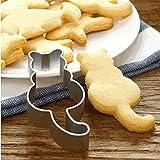 HENGSONG Katze Ausstechformen Ausstecher Keksausstecher Edelstahl Backen Zubehör Fondant Plätzchen Ausstecherform Cookie Cutter