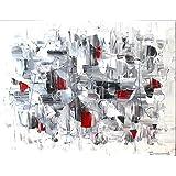 Malerei Gemälde Wandbild schwarz-weiß-rot Zenic XXL 120 x 100 x 4 cm