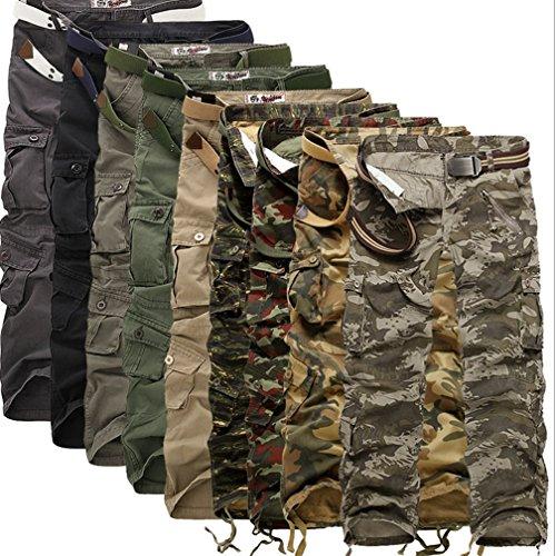 Ghope Herren Cargo Hose Army Herrenhose Freizeit Outdoor Jogg Chino Oversize Camouflage