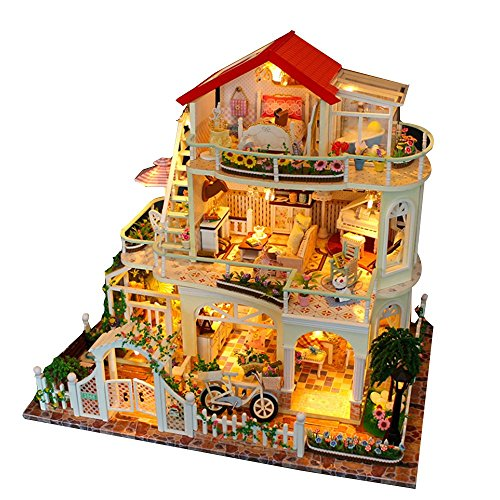 LINAG Puppenhaus Häuser Minipuppen Mini-Szene Zuhause Einrichtung Spielzeug Möbel DIY Village Zubehör Szenenspielzeug Gebäudemodell Geburtstagsgeschenk Doll-3129