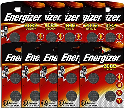 Preisvergleich Produktbild TEN PACK Energizer CR2032 3V Lithium Button Coin Cell Battery